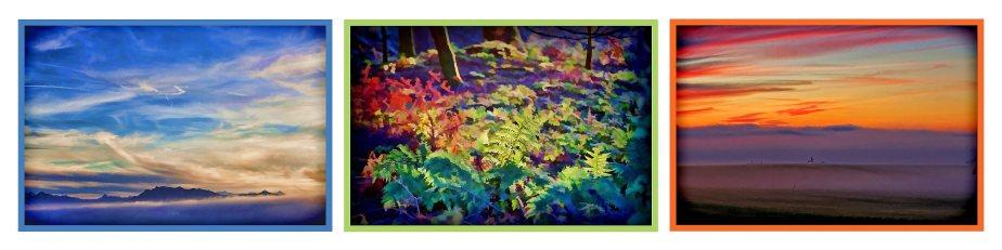 Blick vom Sulzer Berg auf das Pilatusmassiv - Herbststimmung im Wald - Blick Richtung Beromünster