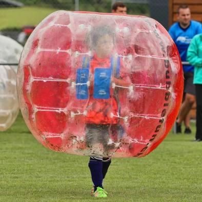 Elia am 2. Bubble Fussball Turnier des FC Hitzkirch auf dem Sportplatz Hegler Hitzkirch.