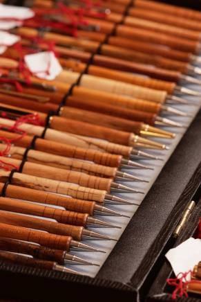 Filigrane Schreibstifte aus der Drechslerei von Häfliger Beat