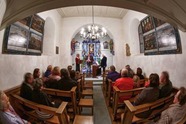 Opernsängerin Silvia Bartoli beim Klassivkonzert in der kleinen, aber schmucken Kapelle St. Wendelin in Lieli/LU.
