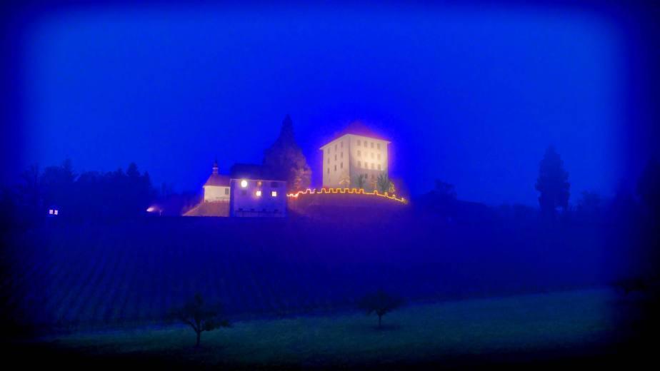 Impressionen Ligth Painting (Lichtmalen) mit Pixelstick unterhalb Schloss Heidegg.