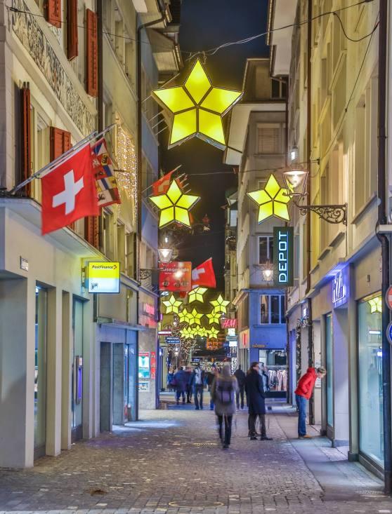 Weihnachtsbeleuchtung Kapellgasse