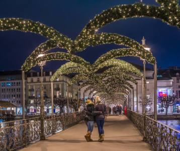Weihnachtsbeleuchtung Rathaussteg