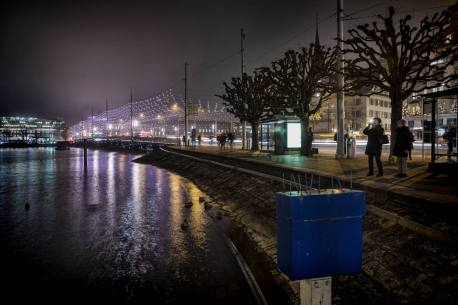 Schwanenplatz mit Seebrücke