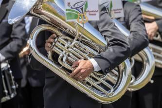 Stillgestanden für den Juror: Musikgesellschaft Hohenrain